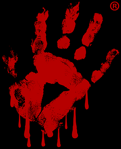 cropped Logo hand print on black »