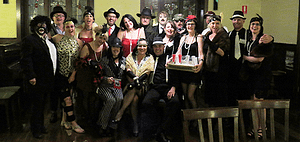 50th birthday murder party group photo