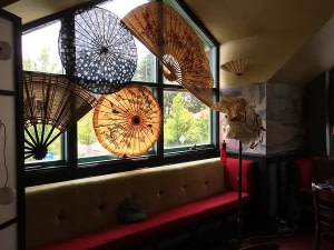 Madame Wag's Restaurant, the parasol window