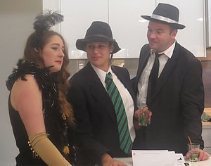 playing characters in a murder mystery