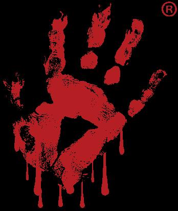the Murder Master's hand-print