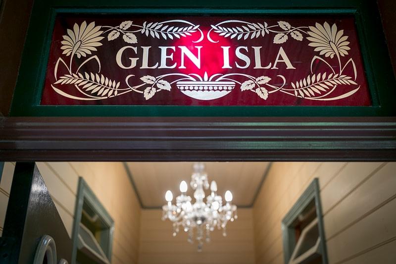 the impressive entry of Glen Isla