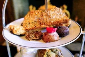 High Tea platter of pastries